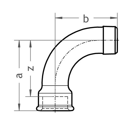 1 langer Bogen - Gröditzer Fittings GmbH A.L.