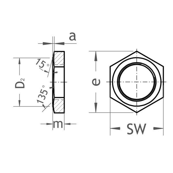 21 Gegenmutter - Gröditzer Fittings GmbH A.L.